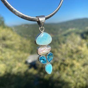 Goddess pendant on Gorgeous Italian Silver Choker